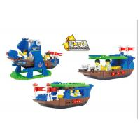 China Plastic Children's Construction Building Blocks Toy Movable Pirate Ship on sale