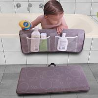 Machine Washable Kneeling Bath Mat High Safety With 6 Strong Suction Cups
