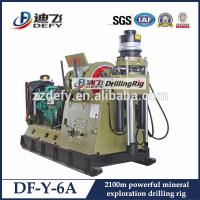 China PQ Wireline DF-Y-6A Hydraulic exploration drilling rig 1000-2100m Depth Core sampling rig on sale