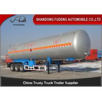 China 30 Tons LNG / LPG Tank Trailer For Flammable Liquid Transport  Fuwa / BPW Axle on sale