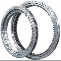 Electricity Equipment Single Row Slew Ring Bearings Four Point Contact Ball External Gear Manufactures