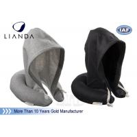 Hoodie Travel Neck Pillow U Shape Cervical Rest Soft Fabric With Hood For Sleeping Manufactures