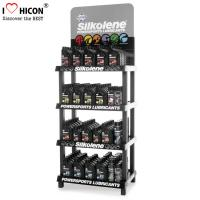 4-Layer Engine Oil Metal Display Racks Automotive Products Motor Oil Display Shelf Manufactures