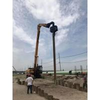 Accurate Excavator Mounted Wood Pile Driver Flexible Control Stable Performance Manufactures