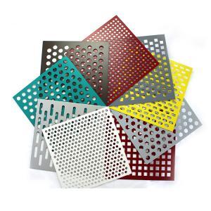 China Round Shape Aluminum Powder Coating Perforated Metal Sheet Punching Mesh Customized Size on sale