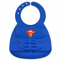Comics Superman Silicone Baby Bibs , Waterproof Baby Bibs With Snaps Manufactures