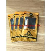 European And American Cigar Moisturizing Plastic Zipper Bags With Humidified System Manufactures