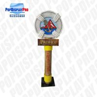 Large Pole Visual Personalized Shelf Display Stand Life Post Full Color Printed With Metal Base for Pacifico Draft Beer Manufactures