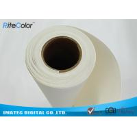 18M Length Blank Inkjet Cotton Canvas , Pigment Digital Printing Cotton Fabric Manufactures