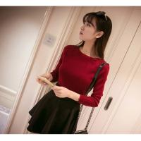 China Korean new arriving Spring women's boat neck sweater thin sweater pullover sweater on sale