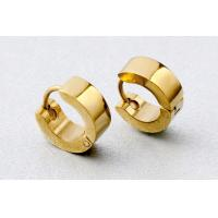 Fashion mens jewelry gold plated men earring stainless steel earrings jewellery wholesale Manufactures