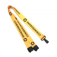 China Safety Breakaway Neck Lanyard Polyester With Heat Transfer Printing on sale