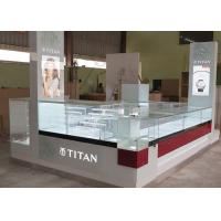 Watch Custom Mall Kiosk Crystal Glass Combine Wood With LED Spot Lights Manufactures