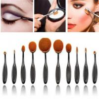 Private Label High End Makeup Brush Set , Toothbrush Looking 10 Piece Brush Set Manufactures