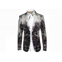 Nostalgic Ethnic Mens Printed Suits ,Breathable Mens Printed Blazers Big Tide Manufactures