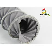 Gray 6 Inch High Temperature Flexible Duct , Portable Spiral PVC Exhaust Duct Manufactures