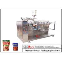 Sauce Premade Pouch Packaging Machine For Doypack , 3/4 Sides Sealed Bags , Pillow Bags Manufactures