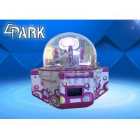 Coin Operated Kids Amusement Redemption Game Machine / Sweet Land 4 Push Candy Claw Crane Machine Manufactures
