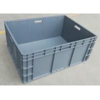 Big Volume Stackable Virgin Plastic Containers  800*600*340 mm Loading Capacity 45kg for sale
