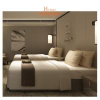 Villa Furniture Hotel Twin Beds Environmental Friendly Lacquer Manufactures