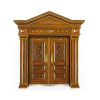 Villa European style imitated wood security door metal gate W1500*H560-850mm Manufactures