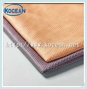 China Microfiber diamond lattice cleaning cloth, cleaning cloth on sale