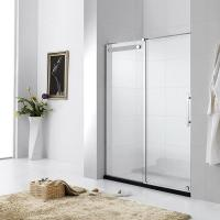Square Tempered Glass Shower Doors Frameless / Framed Aluminium Alloy Material Manufactures