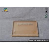 China PET Window Custom Kraft Boxes , Brown Kraft Gift Boxes With Lids For Electronics Product on sale