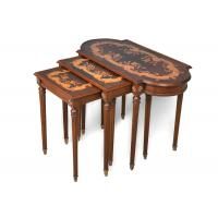 India Style Carved Dark Wooden Console Table Delicate Painting Manufactures