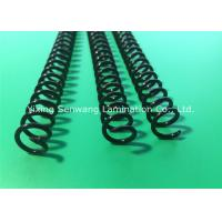 Round Black Plastic Spiral Coils 7/16'' , Unlocking Binding Coil For Books Manufactures
