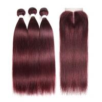 99J Color 100% Real Ombre Human Hair Extensions For Young Lady 8 Inch - 24 Inch Manufactures