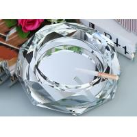 Clear Crystal Home Decorations Crafts Ashtray With Cigar Holders Custom Size Manufactures
