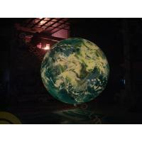 0.18mm PVC Inflatable Helium Balloons Attractive globe For Science Exhibition with colorful LED light