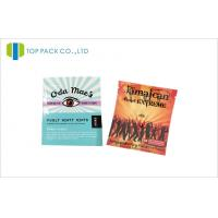 Laminated Herbal Incense Pouches Aluminum Foil Resealable Bags Zipper And Tear Notch Manufactures