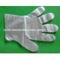Clear embossed HDPE disposable gloves with sizes of S,M,L Manufactures