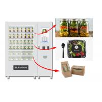 Refrigerated Automatic Fruit Fresh Salad Vending Machine 22 Inch Advertising Screen Manufactures