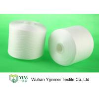 Z Twist White Dyed Virgin Spun Polyester Yarn For Sewing / Knitting / Weaving Manufactures