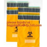 Shield Autoclavable Biohazard Bags , Biohazard Waste Bags With Pocket Medical Specimen Manufactures