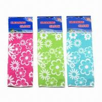 China 30 x 40cm printed microfiber cleaning cloths, OEM orders are welcome on sale