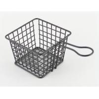 China Modern Home Kitchen Accessories , Serving Fry Basket With Handle on sale