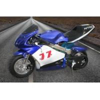 Bright Blue Color Dirt Bike Motorcycle / Electric Pocket Bike 350 Watt Max Speed 30km/H Manufactures
