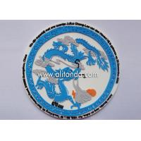 China style ethnic style traditional cultural style design soft pvc silicone rubber plastic coaster custom Manufactures