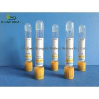Quality SST Serum Collection Tubes , PET / Glass Serum Separator Tube 3ml 4ml for sale