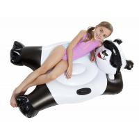 Black and White Panda Bear Inflatable Pool Floats With Handles Custom Size Manufactures