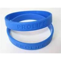 Eco - friendly Promotional Embossed sports Silicone Bracelet for Wedding Decoration Manufactures