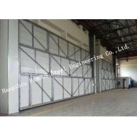 China Manual Folded Push Pull Overhead Industrial Garage Doors Track And Hardware Of Aircraft Hanger on sale