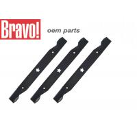 Black Lawn And Garden Equipment Parts Steel Lawn Mower Blades Replacement Manufactures