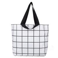 Handled Plain Organic Cotton Tote Bags , Custom Natural Cotton Shopping Bag Manufactures