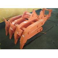 Seven Tooth Rotate Wood Grapple / Timber Grapple for Hitachi EX230 Excavator Manufactures