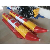 Commercial Grade Children Inflatable Banana Boat Used In Lake Manufactures
